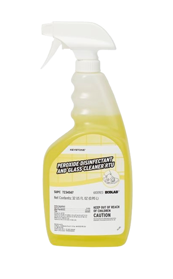 Keystone Peroxide Disinfectant Glass Cleaner RTU